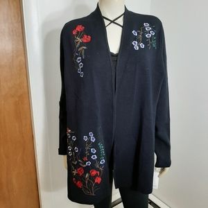 Charter Club Beautiful Embroidered sweater sz 1X